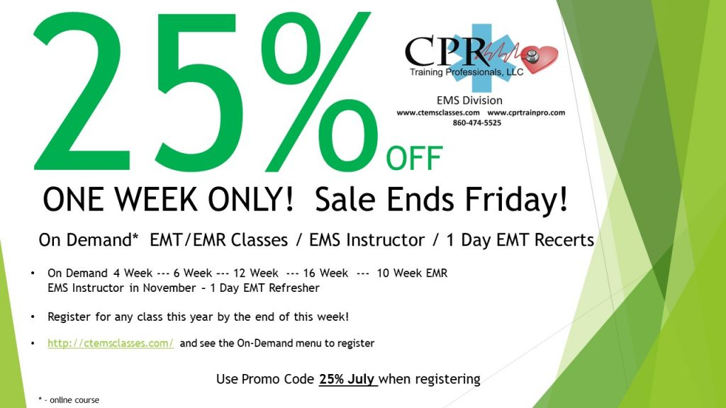 10 Week EMR Initial On Demand | EMS Classes / EMT Training